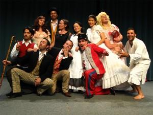 Happy participants of the theatre elective